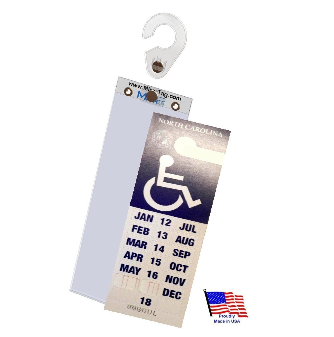 MirorTag™ Gold Plus  Handicapped Parking Placard Holder & Protector