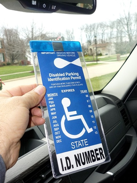 MirorTag™ Bronze  Handicapped Parking Placard Holder & Protector