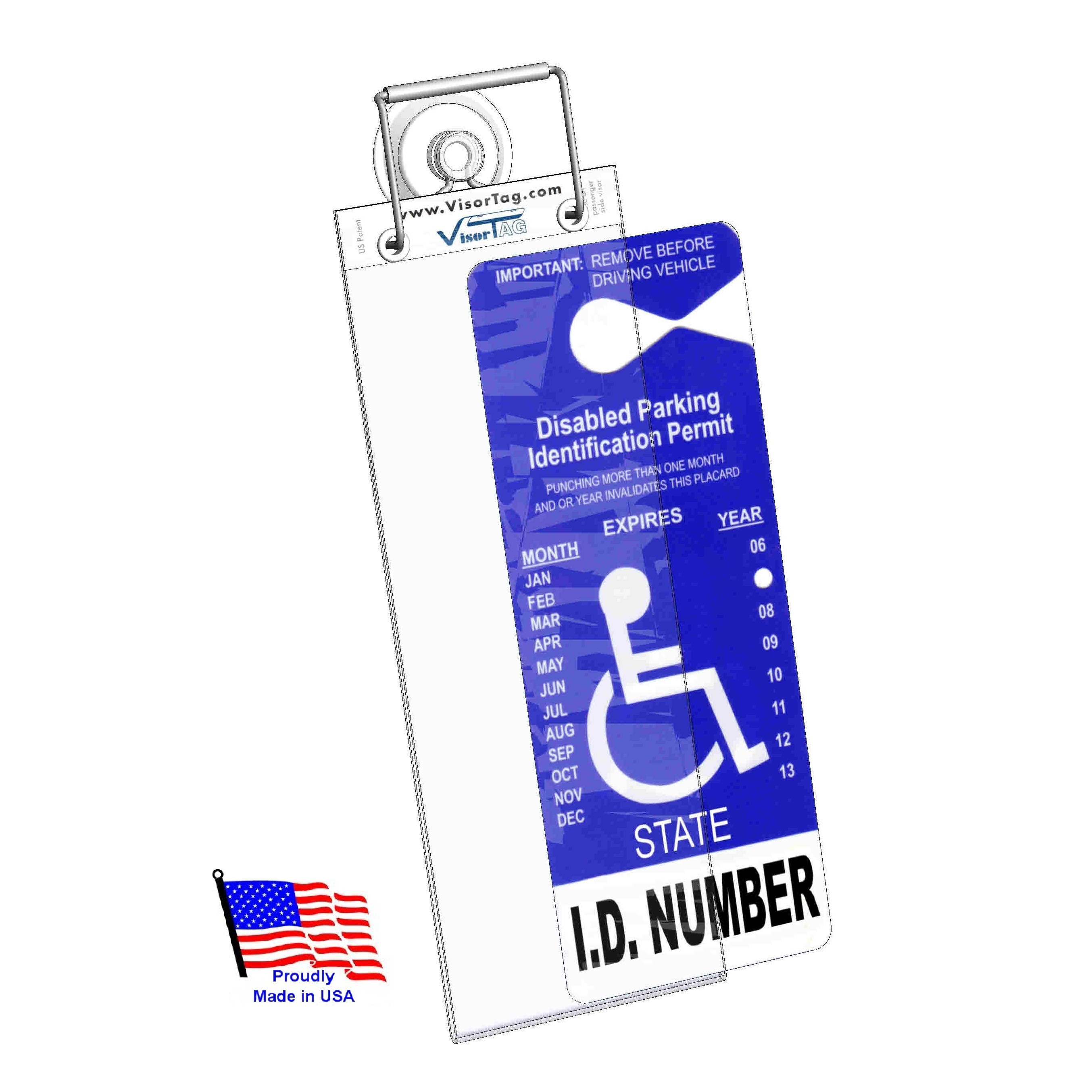 WindshieldTag™   Handicapped Parking Placard Holder & Protector    (Closed this week. Orders will ship on 12/10/18)