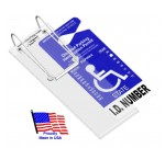 VisorTag®  Vertical   Handicapped Parking Placard Holder & Protector (Closed now. Orders will ship on 2/25/19)